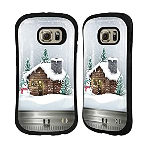 Head Case Designs Cabin Christmas In Jars Hybrid Case for Samsung Galaxy S5 / S5 Neo