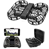 Dwi Dowellin FPV Drone with 720P HD Camera Live Video Foldable Mini RC Drones Crash Proof One Key Take Off Landing Flips and Rolls Micro Quadcopter with Case for Kids Beginners Adults