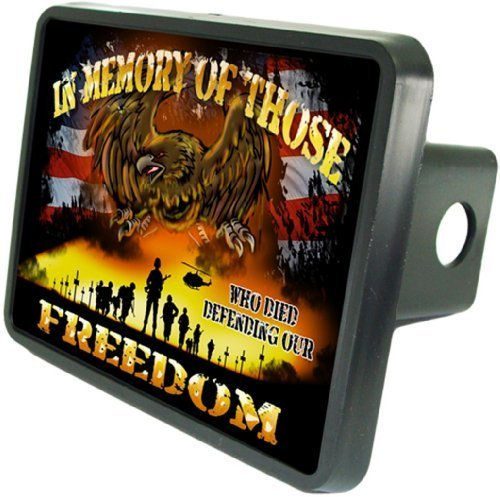 Redeye Laserworks in Memory of Those Who Died for Our Freedom Custom Hitch Plug for 2