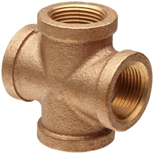 Brass Pipe Fitting, Class 125, Cross, 3/4