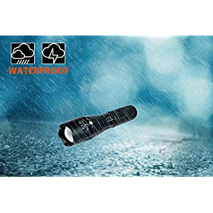 Super Bright LED Tactical Flashlight - High Lumen, Zoomable, 5 Modes, Water Resistant, Handheld Light - Best Camping, Outdoor, Emergency, Hurricane, Everyday Flashlights