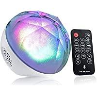 LED Bluetooth Speaker with Color Changing Light Show, Best Gift for Home and Bedroom - White - JVR M30W