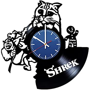 amazon shrek cat animated disney film vinyl wall clock unique Bon Jovi Train shrek cat animated disney film vinyl wall clock unique home decor original handmade vintage