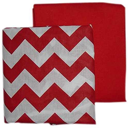 BabyDoll Chevron and Solid Crib Sheets, Red baby doll beddin; crib sheets 705sh2