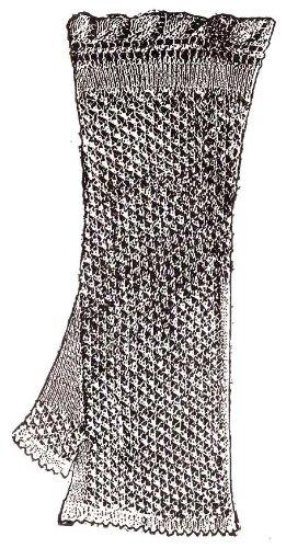 Ladies' Knit Knitted Mitt Fingerless Gloves Mitts Knitting Pattern
