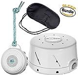 Marpac Dohm-DS All Natural Sound Machine - White, Marpac Rohm Portable Electronic White Noise Sound Machine - White & Zonoz Sleepy Eyez Lightweight Sleeping Mask (Home & Away Bundle)