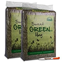 7KG Nature's Own Sweet Green Hay Pet Food Dust Extracted Animal Feed & Tigerbox Antibacterial Pen