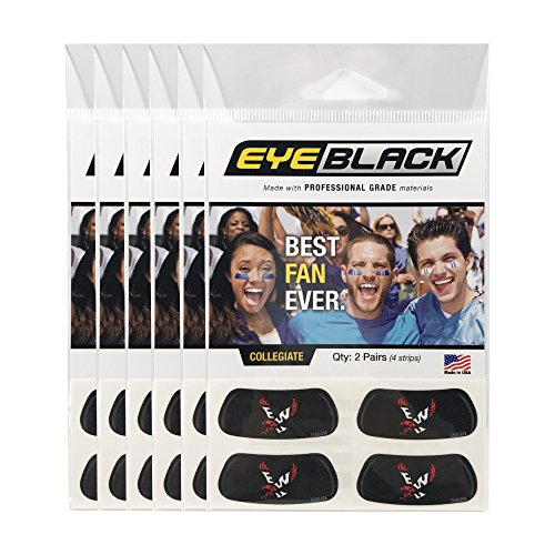 EyeBlack (24 Strips) Eastern Washington Eagles Anti Glare Stickers, Great for Fans & Athletes on Game Day