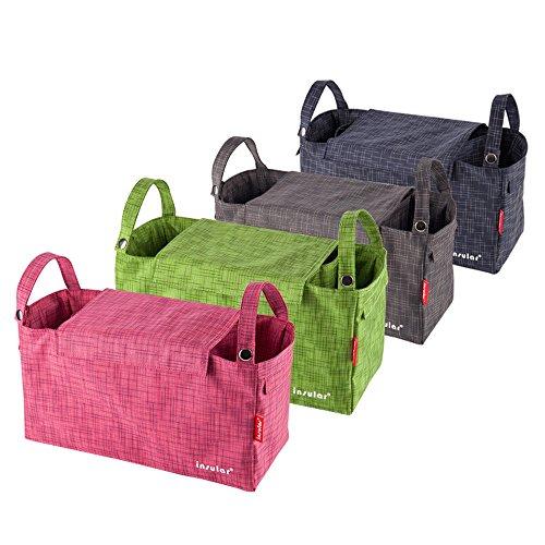 Momia pañal bolsa bebé para cambio de pañales organizador cochecito/cochecito de bebé/cochecito/cochecito 7celdas azul Sapphire rosa (b)