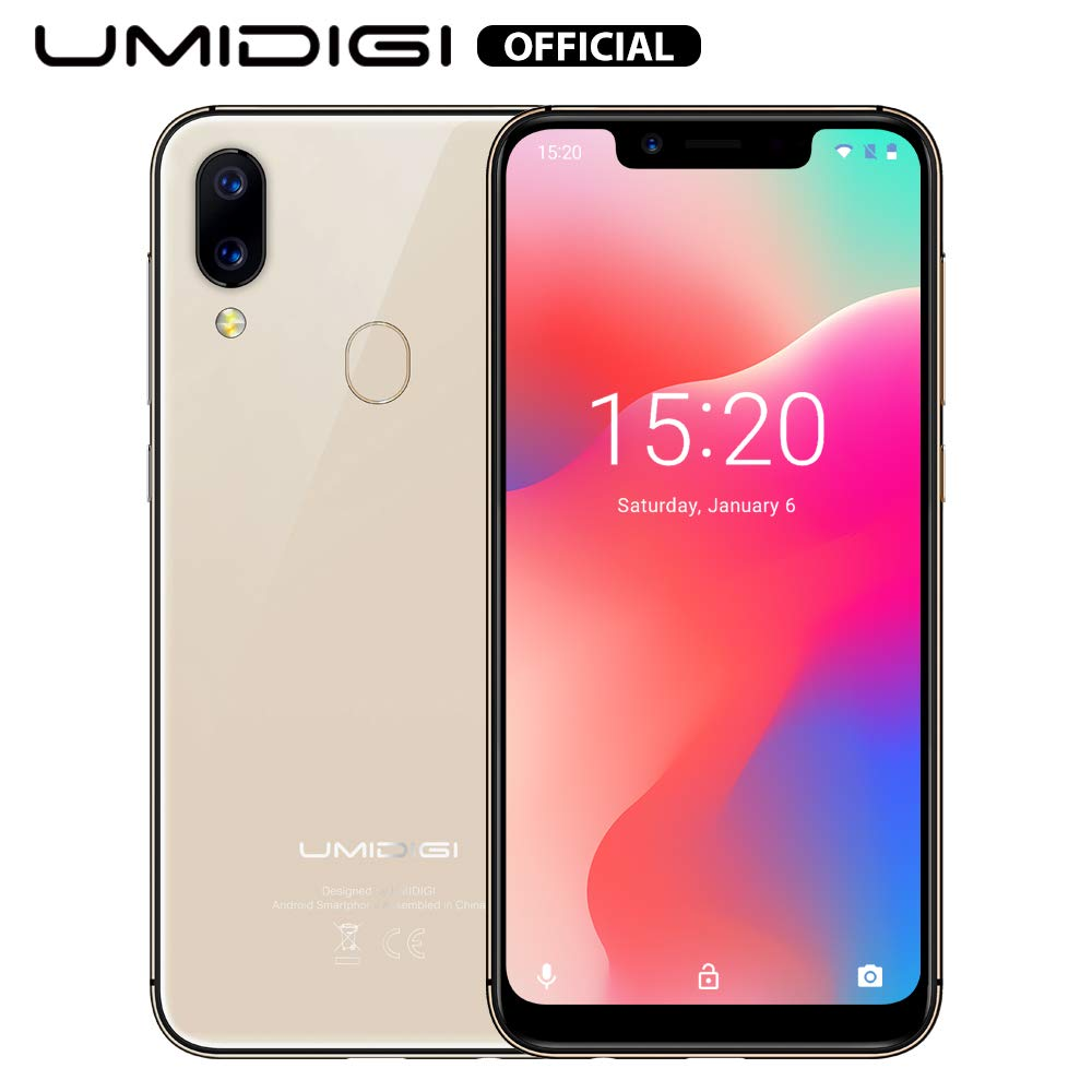 UMIDIGI A3 Pro Mobile Phone Unlocked Dual 4G Volte Smart Phone 5.7'' Incell 19:9 Full-Screen Display 3GBRAM+16GB ROM 2+1 Triple Slot Face Unlock 12MP + 5MP Dual Camera Android 8.1[Rose Gold]