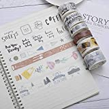 DHmart Retro Coffee Life INS Style Washi Tape DIY