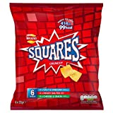 Walkers Squares Salt & Vinegar Ready Salted Cheese & Onion, 6 Packets
