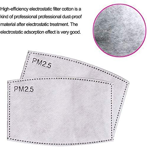 【100PCS】PM 2.5 Filters 5 Layers Replacable Activated Carbon Filter