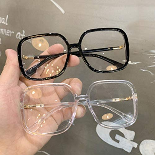 large clear frame glasses - amycoz