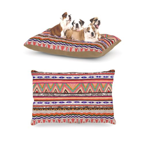 Kess InHouse Vasare Nar ''Native Tessellation'' Fleece Dog Bed, 30 by 40-Inch by Kess InHouse