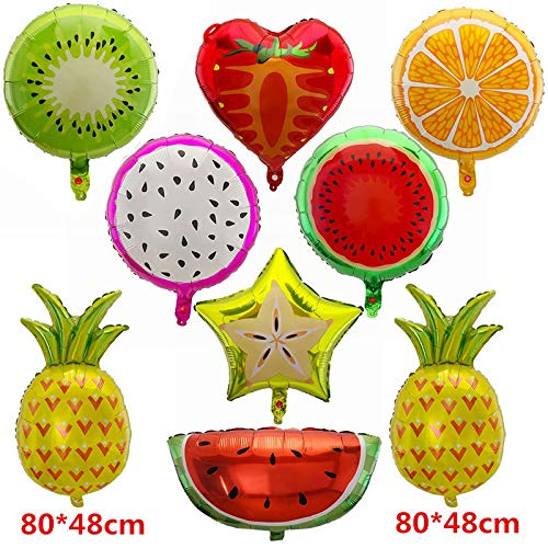 40 Pcs Fruit Mylar Balloons Party Supplies,18 Inch Large Foil Balloons for Birthday Party or Baby Shower Decorations