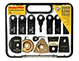 Rockwell RW9196K Sonicrafter Accessory Kit and Carry Case, 15-Piece