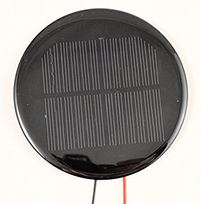 Small Solar Panel Round 5V 120mA with Wires