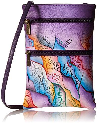 Ocean Crossbody Quest Genuine Leather Cosmic One size Travel Zip Oct Painted Double Treasures Bag Hand Women's Anuschka Pq8HCC