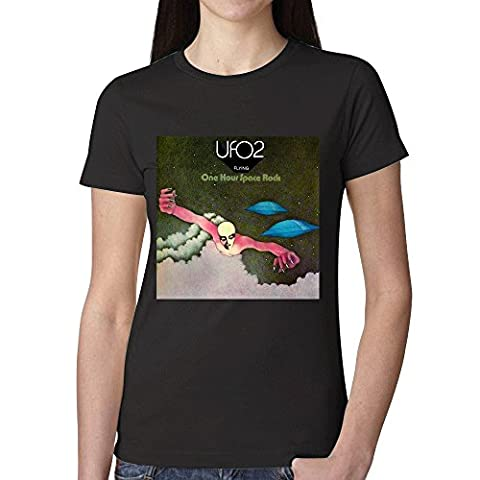 Ufo Ufo 2 Flying One Hour Space Rock Womens T-Shirt Black (Brad Mehldau Sheet Music)