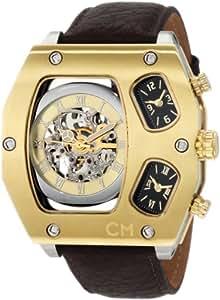 Carlo Monti CM106-205 (XXXL) - Reloj de caballero automático, correa de piel color marrón