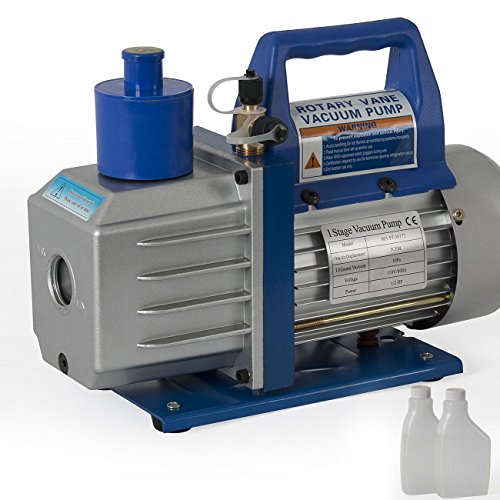 TAVLAR 5CFM Rotary Vane DEEP Vacuum Pump For AC R410A R134 Refrigeration A/C