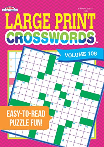 (Large Print Crosswords Puzzle Book-Volume 105)