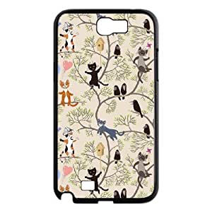 AKERCY Cute Cats Phone Case For Samsung Galaxy Note 2 N7100 [Pattern-2]