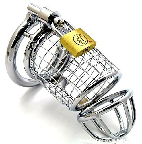 FANGMING 16 x 3.7cm large size stainless steel cock cock cage male chastity device and 3 size (1.5/1.75 / 2inch) penis penis ring selection by FANGMING
