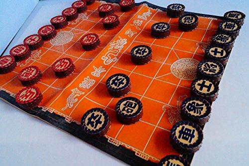 中国のチェス、シャンチー、ユニークな手作りの革のチェスの駒