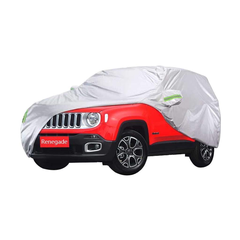 Car cover Copertura auto speciale per JEEP Renegade Copertura per auto speciale SUV in spugna di Oxford Protezione solare per la pioggia e antigelo (dimensioni : 2018) CXSM-Car cover