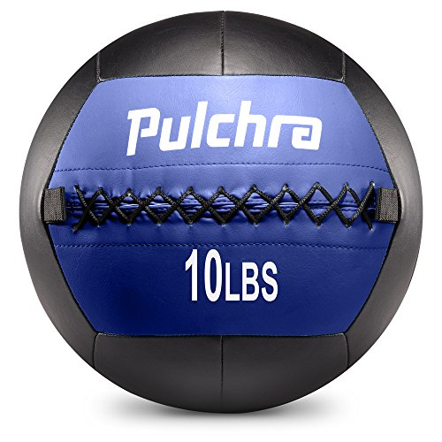Pulchra Medicine Ball ( PU Leather & Cotton Stuffing ) Exercise Slam Weight Wall Balls for Body-Building Weight-Lossing (10LB)