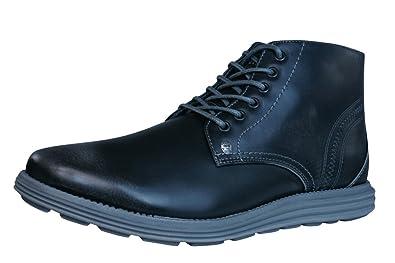 Firetrap Mens Gents Baccara Boots Shoes Lightweight Laced Footwear Charcoal  Hi Shine/Grey (13uk