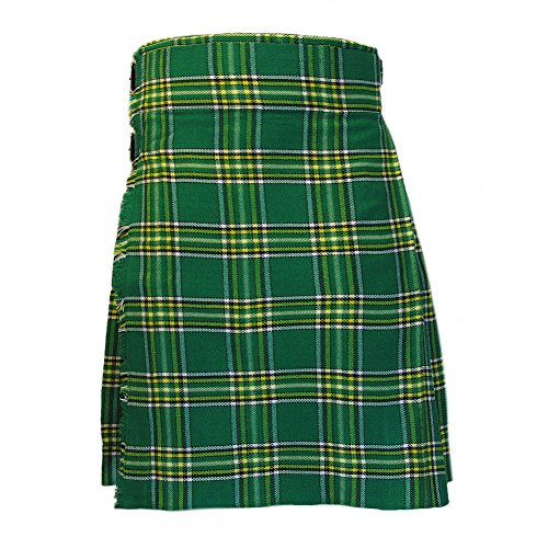 Mens Kilt Irish Plaid/Tartan 5 Yard 10 oz 40 - Irish Kilt