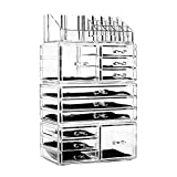 unique storage - Unique Home Acrylic Jewelry and Cosmetic Storage Makeup Organizer Set, 4 Piece