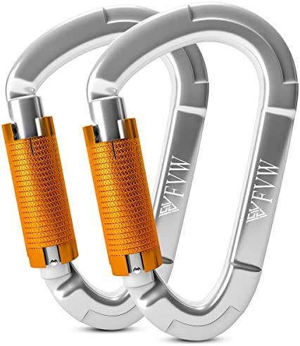Heavy Duty Auto Locking Carabiner for Rappelling Rescue Tree Rock Climbing