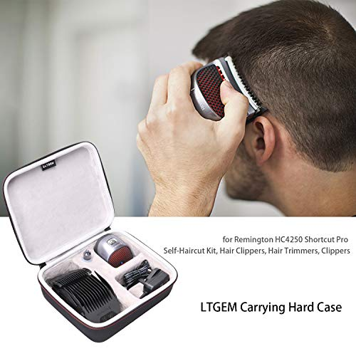 LTGEM Hard Travel Carrying Case for Remington HC4250 Shortcut Pro Self-Haircut Kit, Hair Clippers Hair Trimmers Clippers by LTGEM (Image #6)