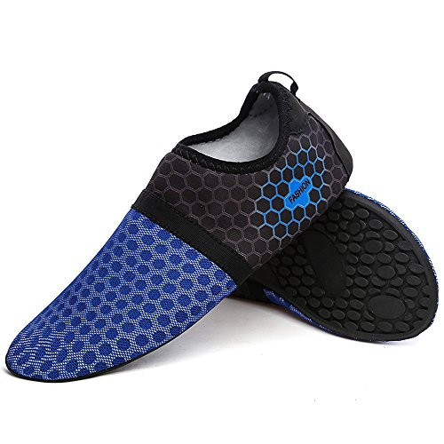 Fung-wong Men and Womens Quick-Dry Breathable Athletic Water Shoes Aqua Socks Blue