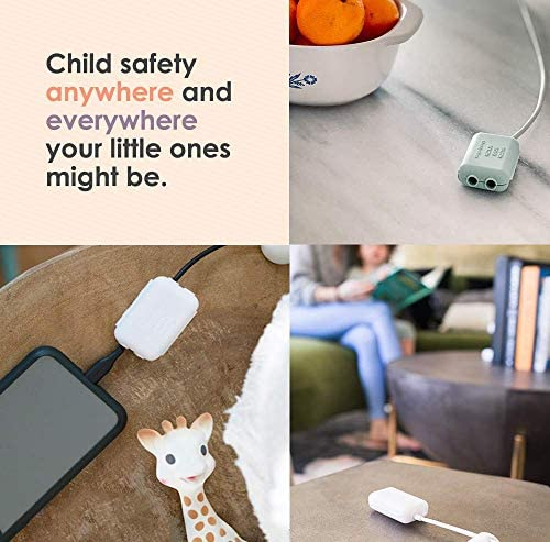 51r72T9iXOL. AC Geddy's Mom, Watch Your Mouth, Child-Safe USB Charger Safety Cover, Baby Proofing Power Outlet Cover, Toddler Safety Device, Electrical Protector (3 Pack, Dusty Aqua)    Product Description