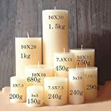 Pillar canlde molds Cylindrical Wedding Candle molds European Style DIY Candles Silicone Rubber Moulds - (Color: 75x100mm)