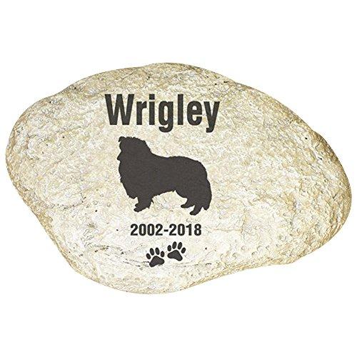 (GiftsForYouNow Engraved Dog Memorial Garden Stone, Sheltie)