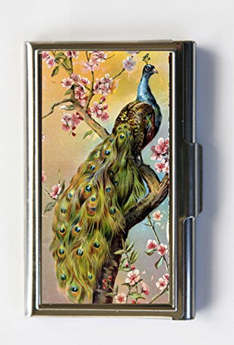 Amazon peacock cherry blossoms business card holder card case peacock cherry blossoms business card holder card case colourmoves