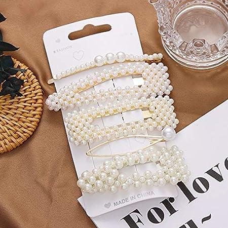 Amazon Com Pasador De Perlas Para El Pelo 1 Unidad Para Mujeres Y Niñas Elegante Perla Accesorio Para El Pelo Beauty
