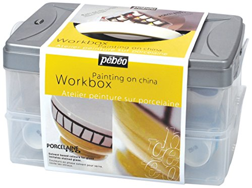 Enameled Witchs - PEBEO Porcelaine 150, Workbox Set of 10 Assorted 45 ml China Paint Colors + Accessories