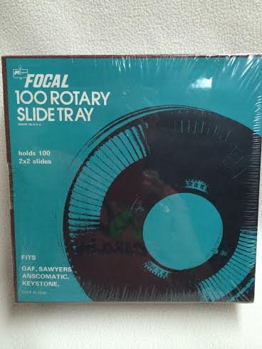 Focal 100 Rotary Slide Tray for slide Projector - - holds 2 X 2 slides - NEW by Focal