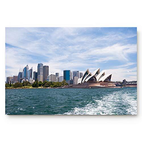 Indoor Non Slip Door Mat Entryway Doormats Sydney Opera House Water Absorb Low Profile Area Rugs Home Decor Floor Runner Carpet ()