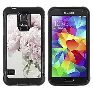 Paccase / Suave TPU GEL Caso Carcasa de Protección Funda para - Light Purple White Vase Design - Samsung Galaxy S5 SM-G900