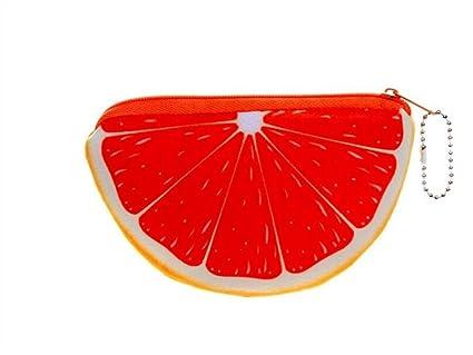Yhcean Creativo Fruta Semicircular Naranja Llavero Llavero ...