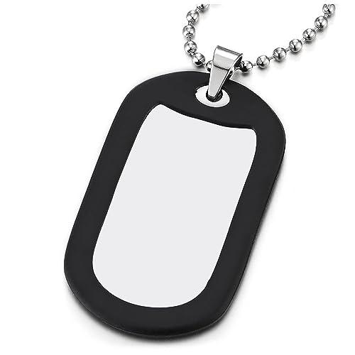 COOLSTEELANDBEYOND Acero Inoxidable Militar Ejército Dog Tag ...