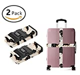YEAHSPACE Adjustable Wiener Dog Dachshund Travel Luggage Strap Straps TSA Approved For Suitcase 2 Pack
